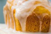 Glazed Pullman Sponge Cake — Stock Photo