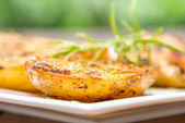 Melted Garlic Butter Potatoes — Stock Photo
