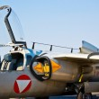 Side view of military jet airplane — Stock Photo
