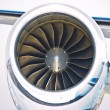 Close up of turbojet of aircraft — Stock Photo #12582822