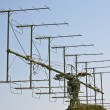 Stock Photo: Military radar antennfor object s detection and ranging