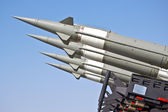 Aircraft combat missiles aimed at the sky — Stock Photo
