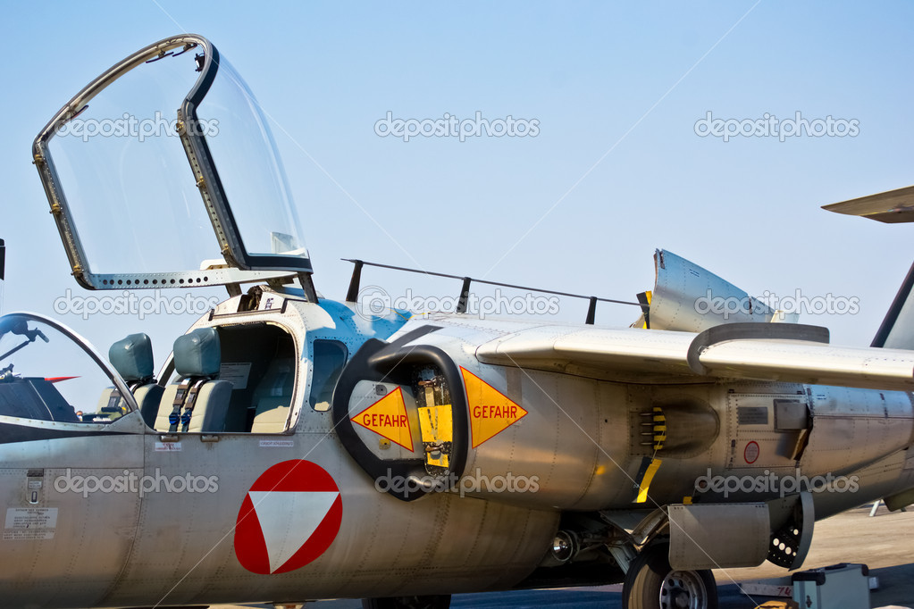 Side view of military jet airplane — Stock Photo #12582790