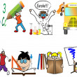 Back to school children vector illustration - Imagens vectoriais em stock