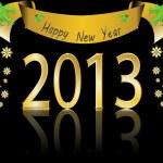 Ilustración de vector feliz año 2013 — Vector de stock