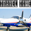 Travel Time plane — Stock Photo