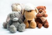 Stuffed animal toys isolated on white — Stock Photo
