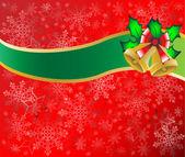 Vánoční přání pozadí vektorové ilustrace — Stock vektor