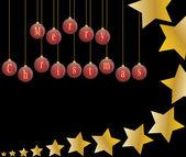 Jul stjärnskott holly bär bakgrund vektor illustration — Stockvektor