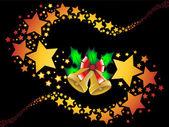 Weihnachten sternschnuppen holly beeren hintergrund vektor-illustration — Stockvektor
