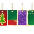 Christmas sale tag banner set with ribbon Christmas Sale Banner set with Ribbon Vector Illustration - Stock Vector