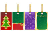 Christmas sale tag banner set with ribbon Christmas Sale Banner set with Ribbon Vector Illustration — Stock Vector