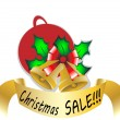 Christmas sale vector illustration — Stock Photo