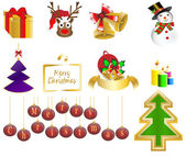 Christmas background icon set vector illustration — Stock Vector