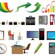 Business Office icons vector illustration — Stok Vektör