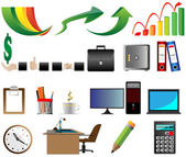 Business Office icons vector illustration — Stock Vector
