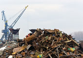 Zrezivělé odpady železo kov — Stock fotografie