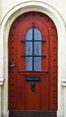 Detalhe de arquiteto de porta de madeira em casa casa — Foto Stock