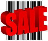 Sale bar code barcode vector illustration — Stock Vector