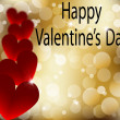 Royalty-Free Stock : Happy Valentines Day gold abstract card with heart