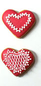 Día de san valentín corazón caseros galletas de jengibre que navidad aislado blanco — Foto de Stock