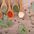 Stock Photo: Spices on Wood table food preparation Food ingredients