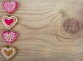 Galleta de jengibre en forma de corazón — Foto de Stock