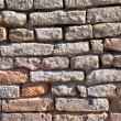 Very old brick wall close up - Stock Photo