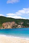 Ola de mar sobre el paisaje de arena — Foto de Stock