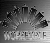 Work force work force team vector illustration — Stock Vector