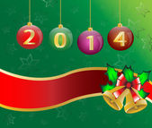Happy new year 2014 Christmas Card Background Illustration vector — Stock Vector