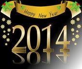 Happy new year 2014 vector illustration — Stock Vector
