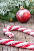 Christmas lollypop lollipop with festive decoration — Stock Photo