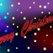 Merry christmas shooting star comet abstract illustration — Foto Stock