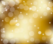 Lights on gold abstract background — Stock Photo
