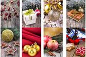 Weihnachtsschmuck set — Stockfoto