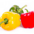 Three bell peppers isolated on white background — Stock Photo #44604291