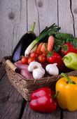 Fresh Organic Vegetable on wood — 图库照片