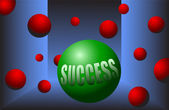 Success ball motivation stand out from the crowd vector illustration — Vecteur