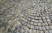 Cobble stone street close up — Stock Photo