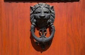 Doorknocker 用的狮子的头 — 图库照片