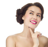 Woman with toothy smile face — Stock Photo