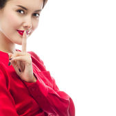 Hush gesture — Stock Photo