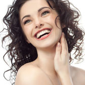 Lächelnde Frau — Stockfoto