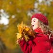 Woman autumn — Stock Photo #40143207