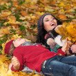 Woman autumn — Stock Photo #40143545