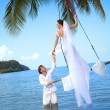 Island wedding — Stock Photo