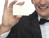 Man in dinner jacket — Stock Photo