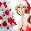 Woman beauty christmas — Stock Photo