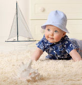 Little child baby boy — Foto de Stock